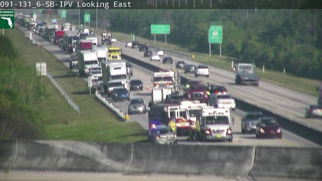 A crash on the Turnpike near Stuart is causing delays.
