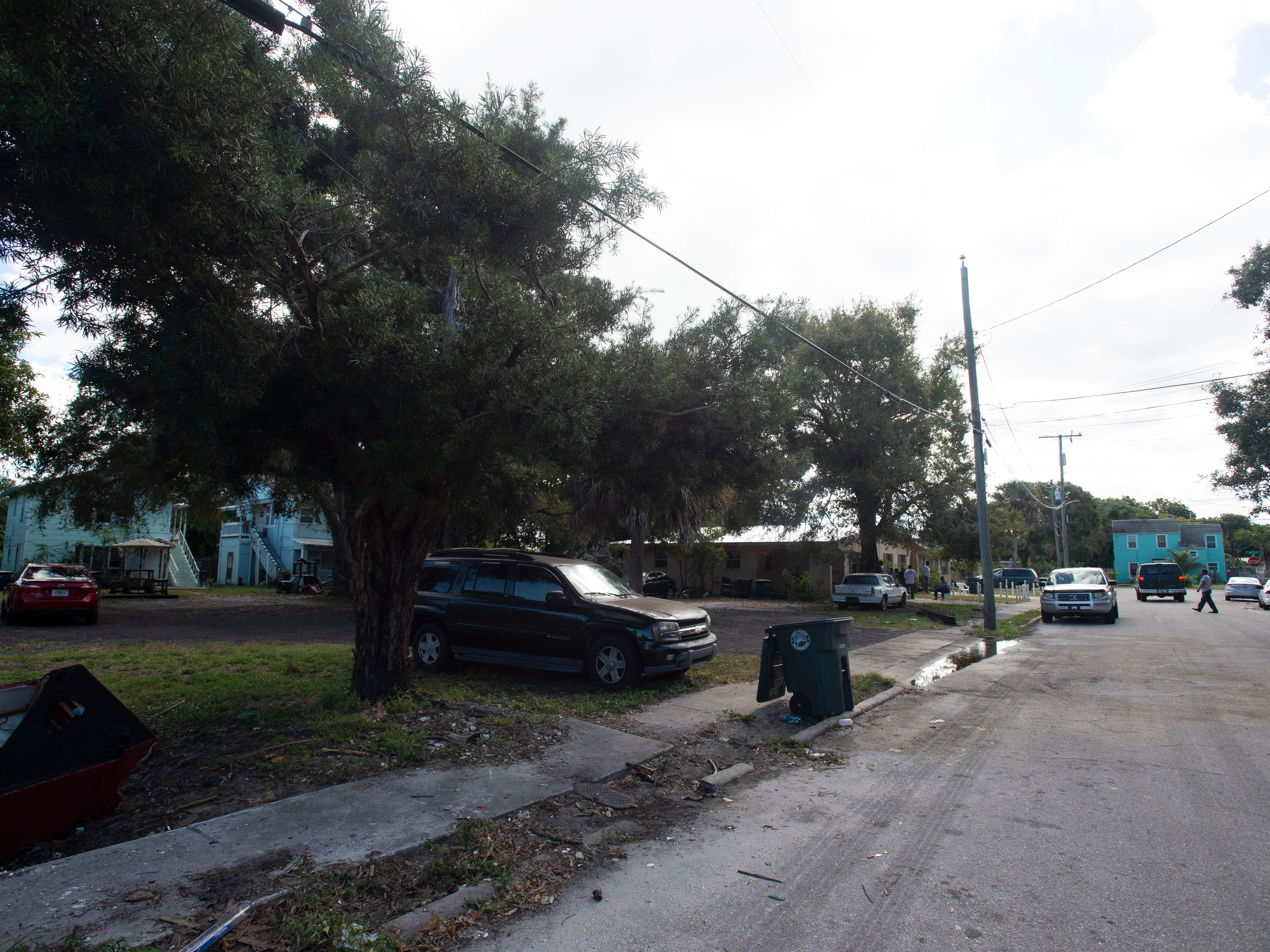 The scene of a Fort Pierce Police Department officer-involved shooting, where one suspect was left dead and a victim was left in critical condition, seen Dec. 7, 2018, the morning after the disturbance, in the 100 block of Alma Court in Fort Pierce.