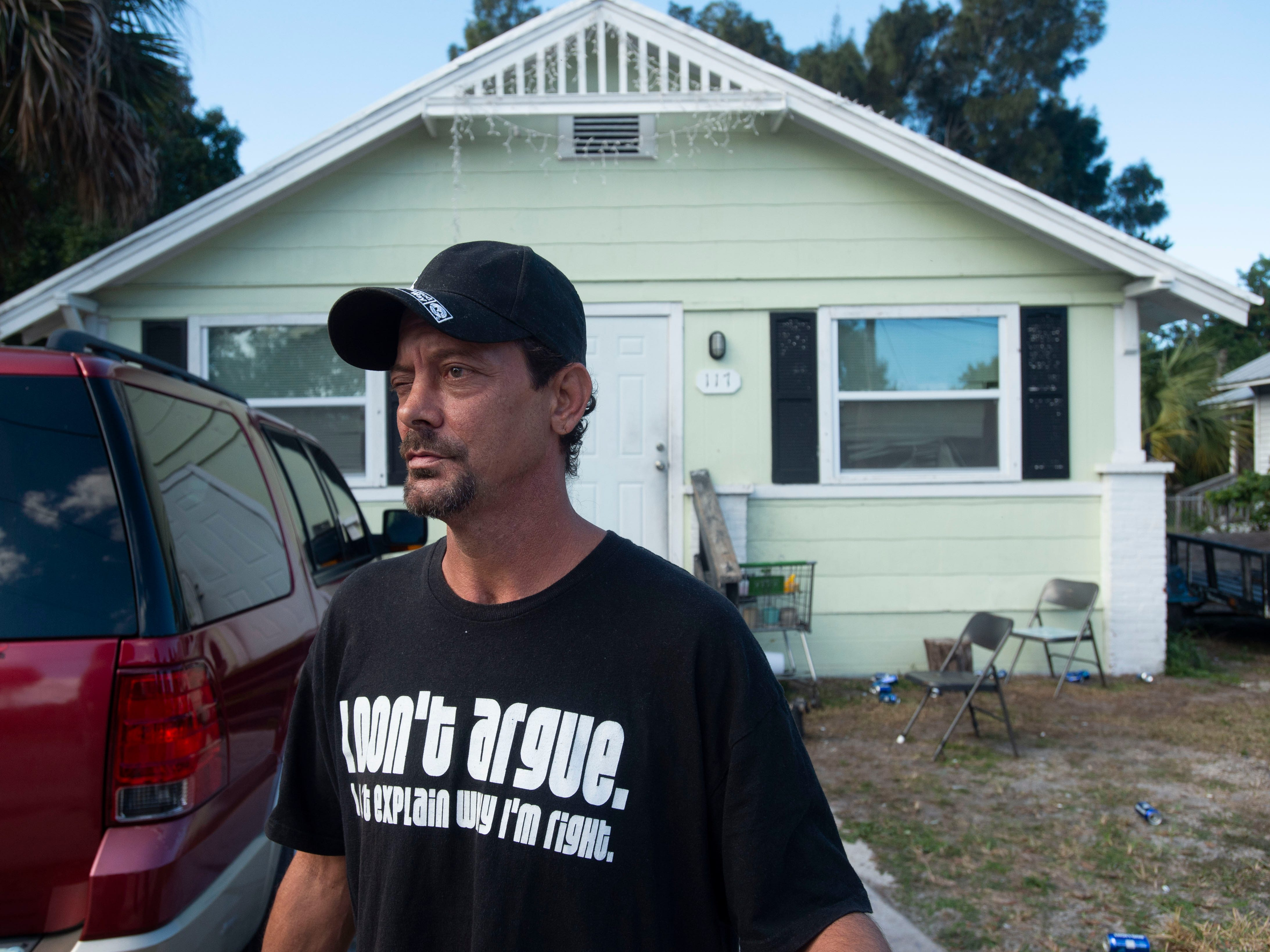 Neighbors share stories of what they heard of witnessed near the scene of a Fort Pierce Police Department officer-involved shooting, where one suspect was left dead and a victim was left in critical condition, seen Dec. 7, 2018, the morning after the disturbance, in the 100 block of Alma Court in Fort Pierce.