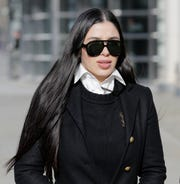 "Emma Coronel Aispuro, wife of Joaquin ""El Chapo"" Guzman, leaves federal court in New York on Thursday, Dec. 6, 2018."