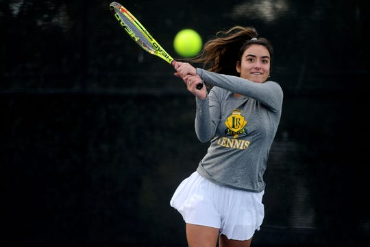 Tiara Nourishad combines strength with mental toughness to overpower her opponents on the tennis court.