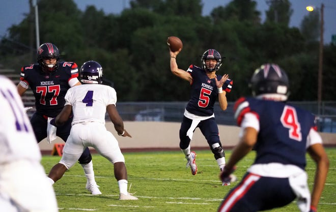 San Joaquin Memorial quarterback Alec Trujillo is an Exeter resident.