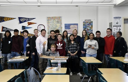 El Diamante teacher Kristen Ruby and her homeroom class raised the most money for student Elaina West's fundraiser for Camp Fire victims.