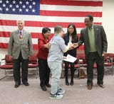 150 Rockland residents from 143 countries were sworn in as naturalized citizens by Rockland County Clerk Paul Piperato at the Rockland County Fire Training Center in Pomona Dec. 7, 2018.