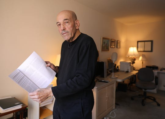 Fred Smith, a test specialist and the main author of a SUNY New Paltz report criticizing the state's standardized testing for grades 3-8, in his apartment in Riverdale.