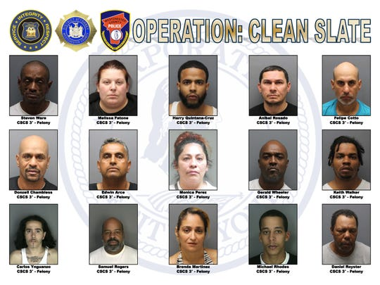 The suspects are charged with third-degree criminal sale of a controlled substance and third-degree criminal possession of a controlled substance, both felonies.
