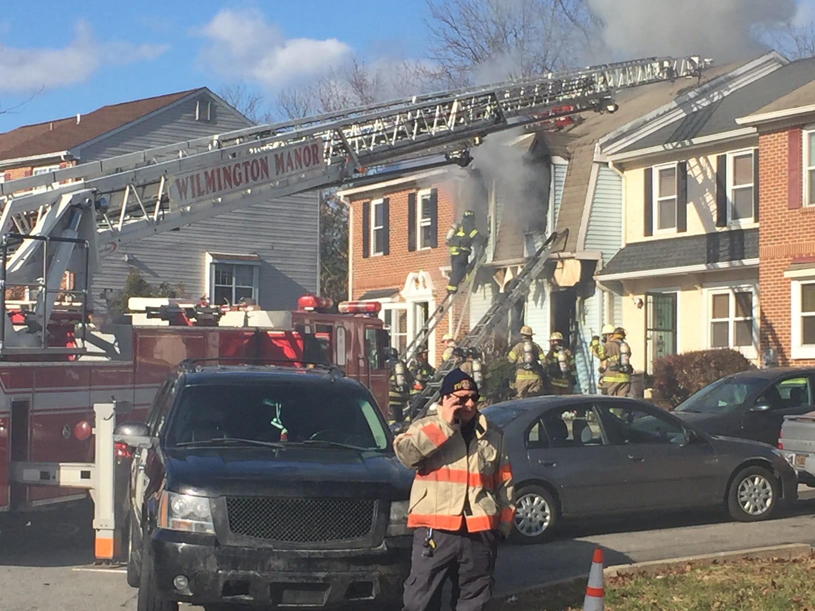 A townhouse fire claimed the life of one near New Castle on Friday morning.