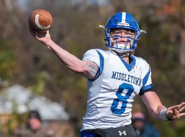 Middletown quarterback Drew Fry is Delaware's offensive player of the year.
