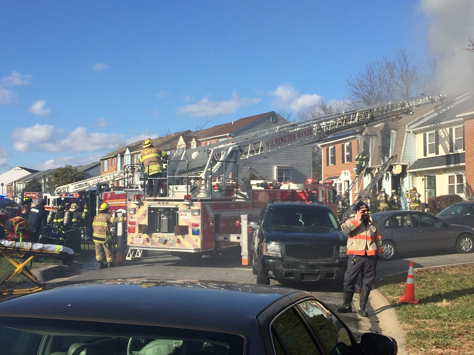 Multiple agencies responded to a fatal fire near New Castle on Friday morning.