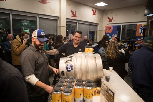 Beer and Wawa lovers waited in a line that wrapped around the building for hours to get their hands on the new Wawa Winter Reserve Coffee Stout beer that was released at the Wawa on Naamans Creek Road in Chadds Ford, Pa.