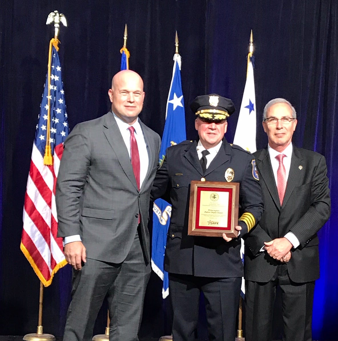 Donald Trump congratulates Wilmington police on crime reduction