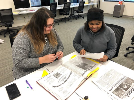 Alyssa Mitchell, left, and Chloe Phillips were recently named co-editors of The Wichitan at MSU-Texas for the spring semester.