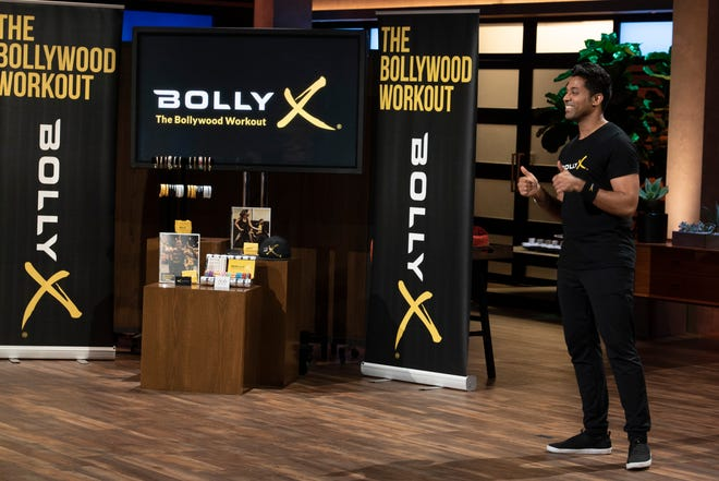 """Shahil Patel, an entrepreneur from Yorba Linda, California pitches his Bollywood-inspired dance fitness program that combines dynamic choreography and intensive workouts with upbeat music on """"Shark Tank."""" But the sharks didn't like his business model."""