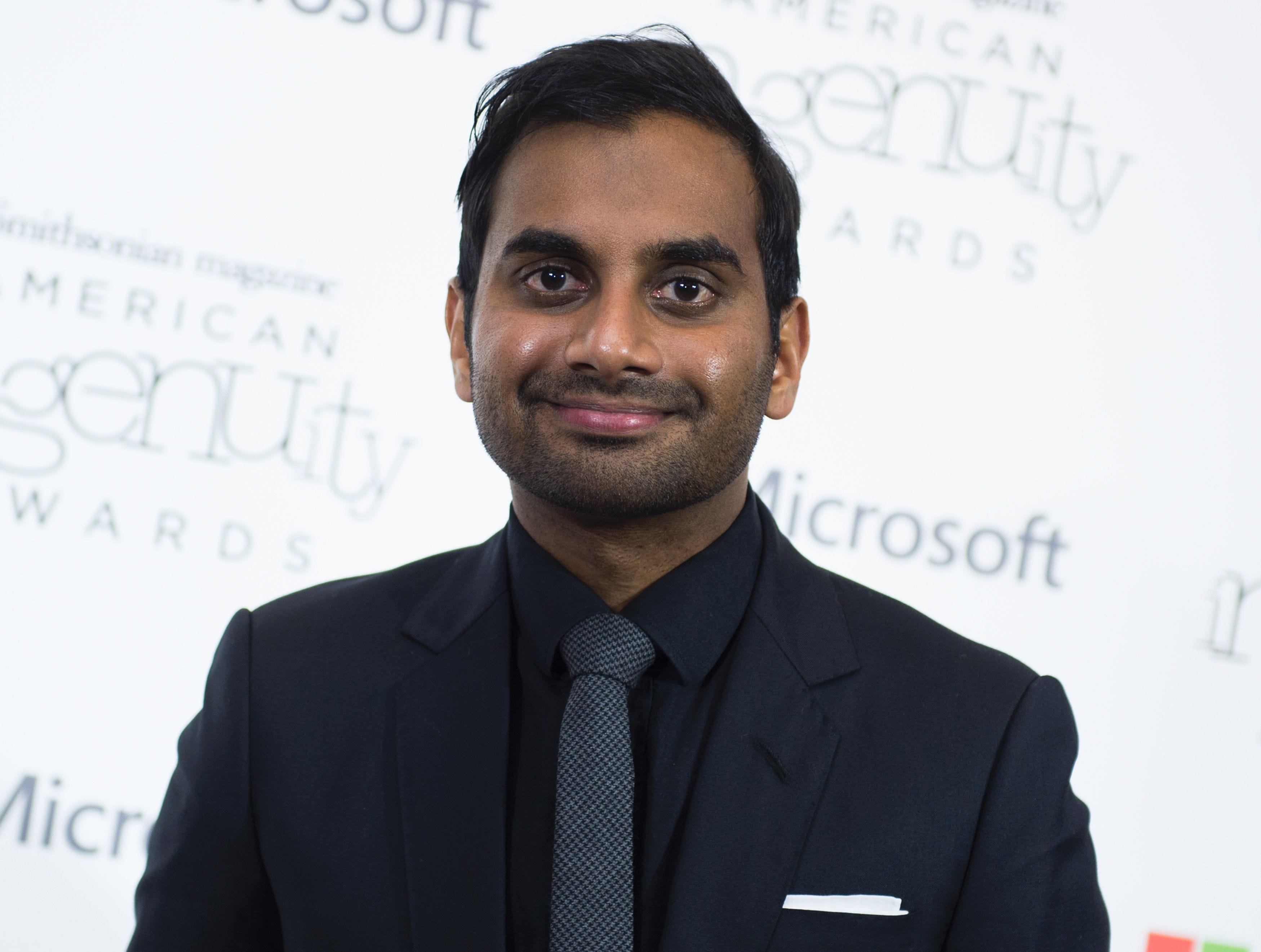 """Aziz Ansari accepted a Performing Arts award for his show """"Master of None."""""""
