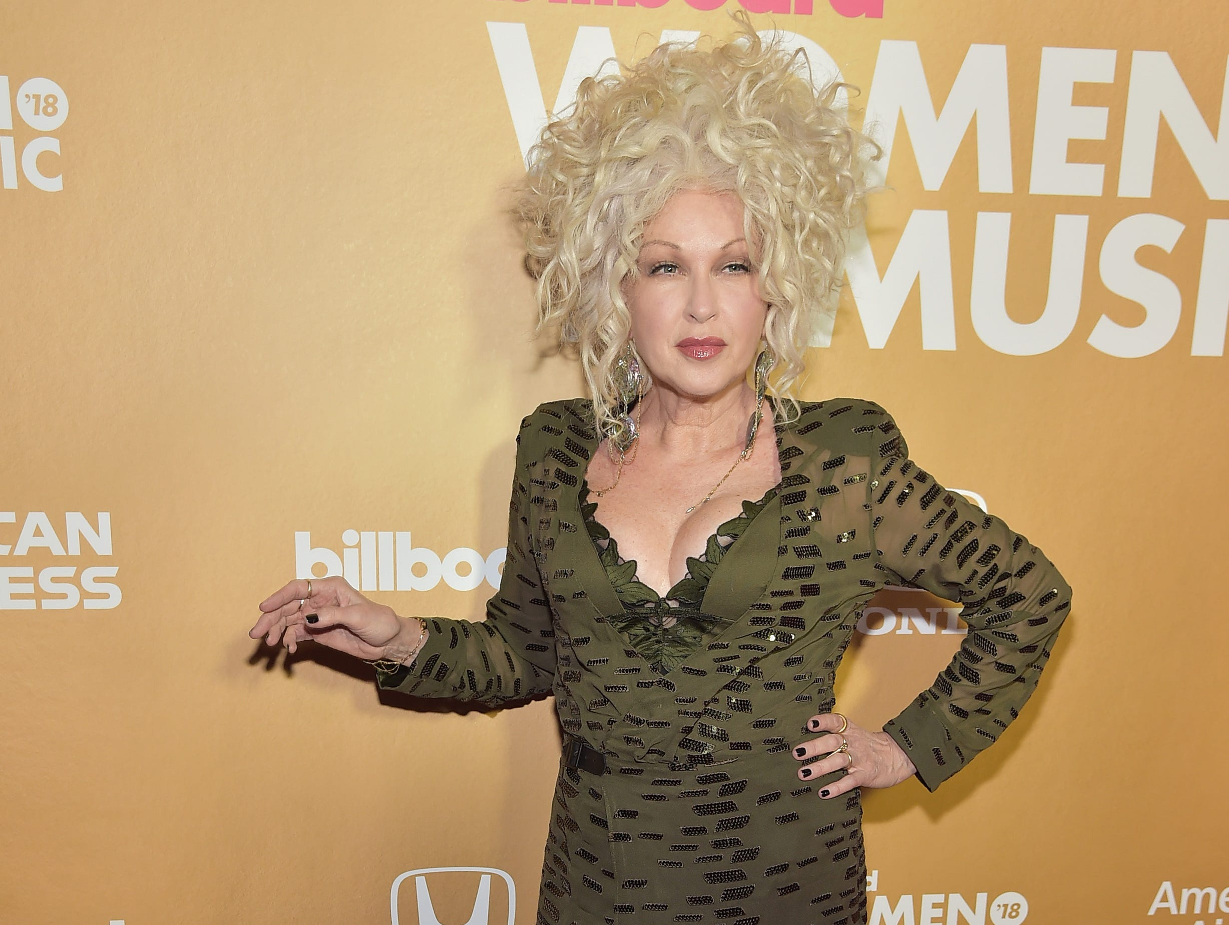 NEW YORK, NEW YORK - DECEMBER 06: Cyndi Lauper attends Billboard's 13th Annual Women In Music Event at Pier 36 on December 06, 2018 in New York City. (Photo by Theo Wargo/Getty Images) ORG XMIT: 775259767 ORIG FILE ID: 1078271466