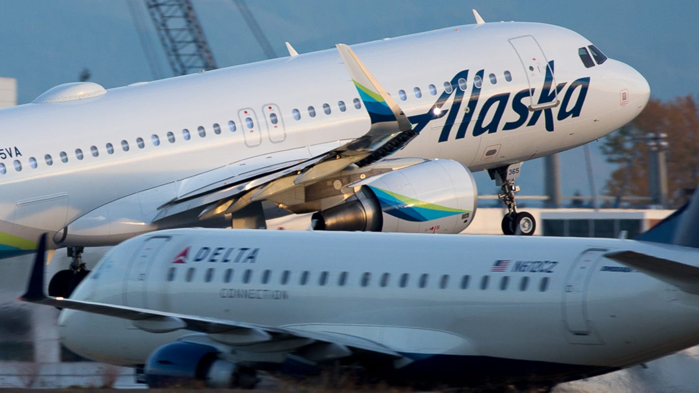 Alaska Airlines' buy-one, get-one fare sale comes with a bonus: an emp... image