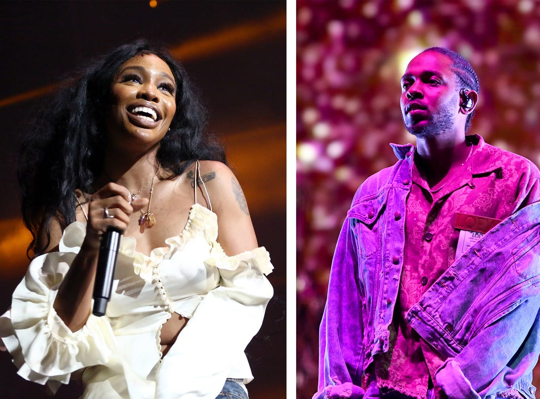 "Record Of The Year:  ""All The Stars"" — Kendrick Lamar and  SZA"