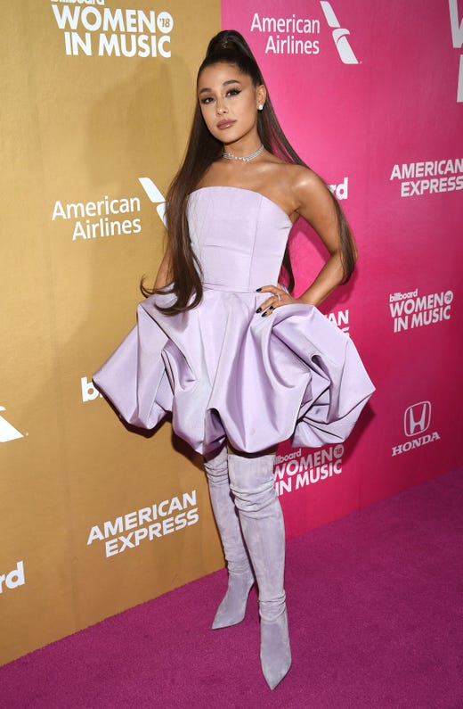 The leading ladies of the music industry joined together for Billboard's 13th annual 'Women in Music' event in New York City Thursday. See all the looks from the red carpet, including Ariana Grande, the woman of the hour.