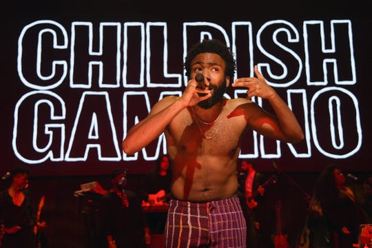 "FILE - Childish Gambino performs ""This is America."""