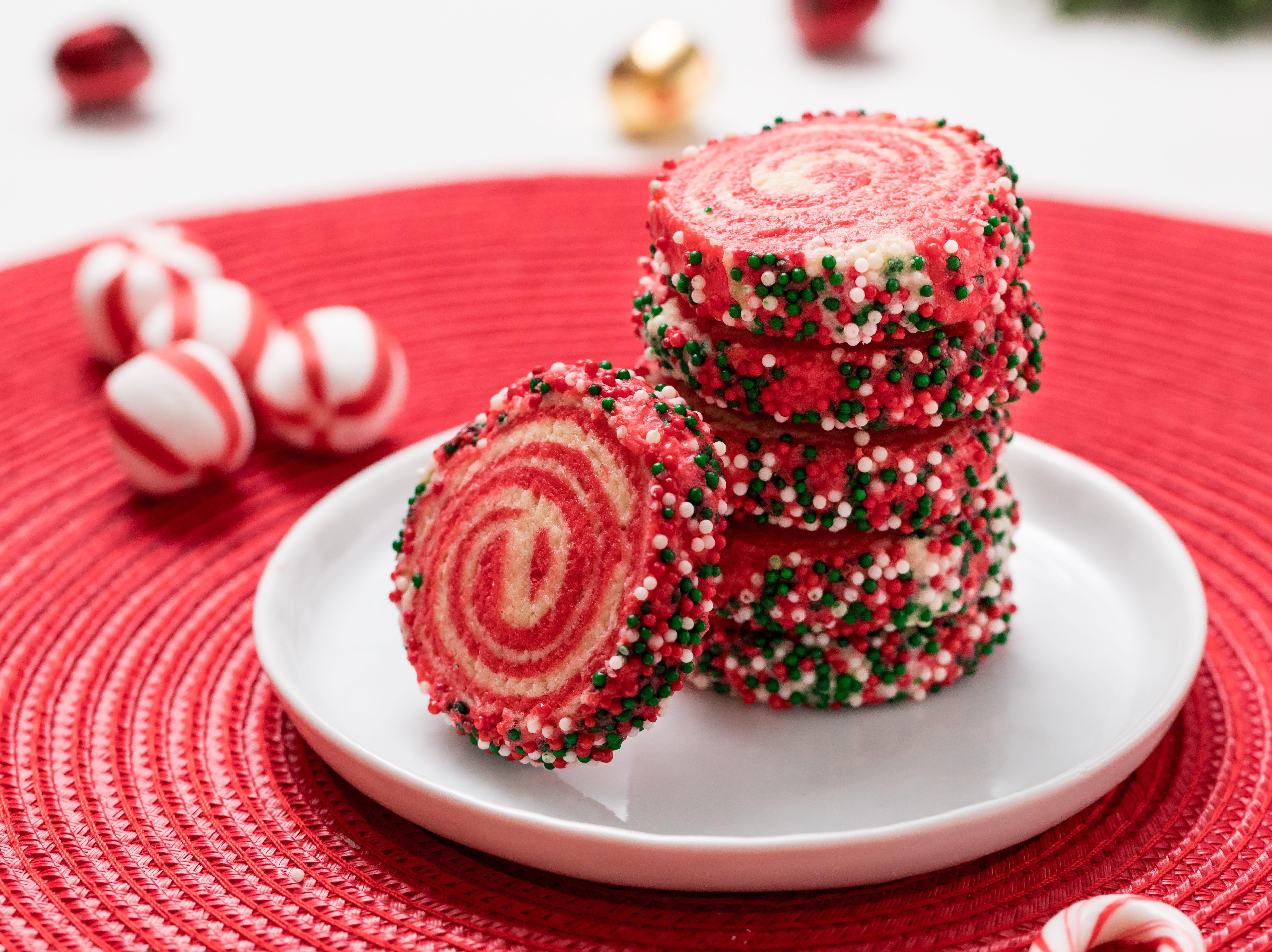 Classic holiday pinwheel cookies