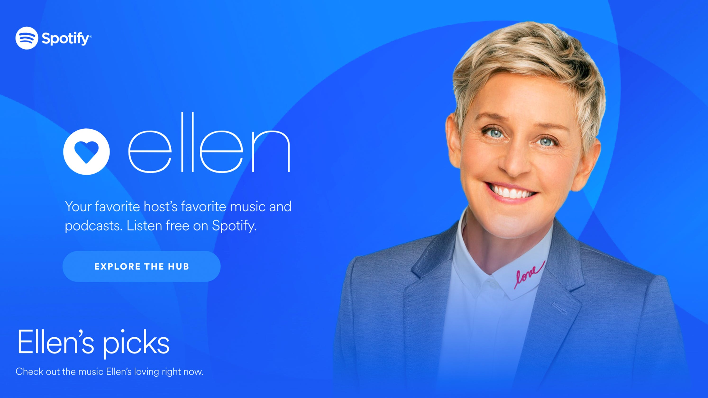 Spotify, Ellen DeGeneres team in a first for the music service
