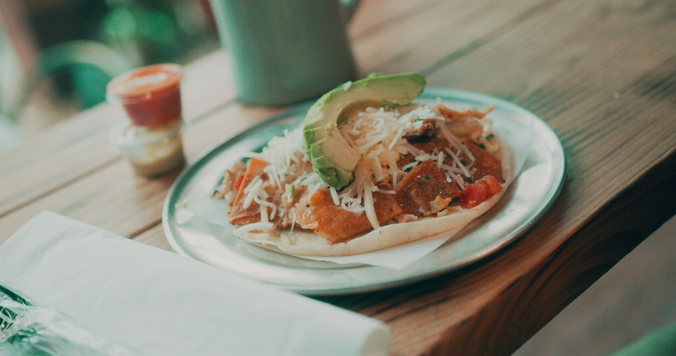 Veracruz All Natural is a must-stop for their Migas Originales breakfast tacos.
