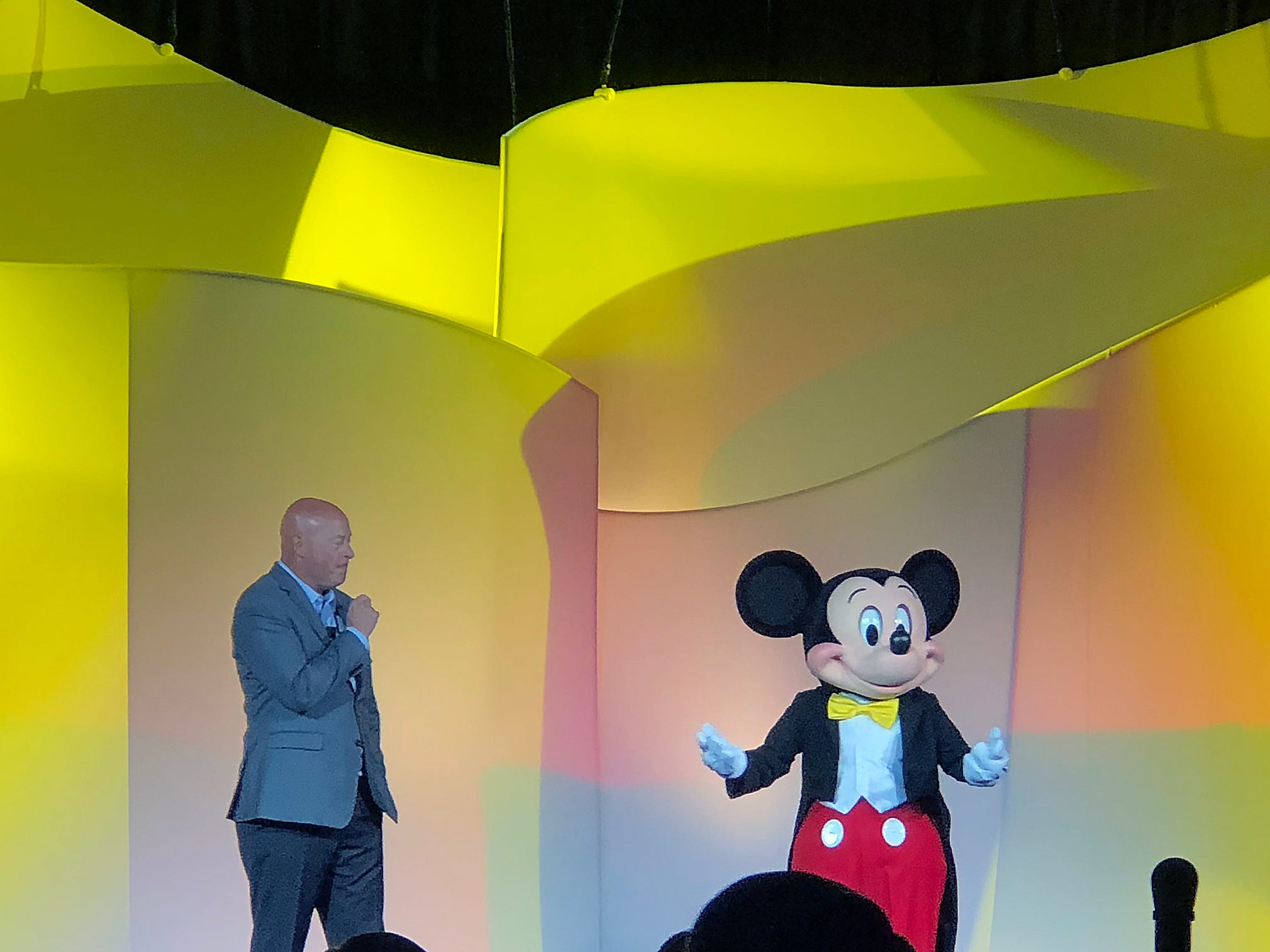 Bob Chapek, chairman of Disney Parks, Experiences, and Consumer Products, was a keynote speaker at the expo.