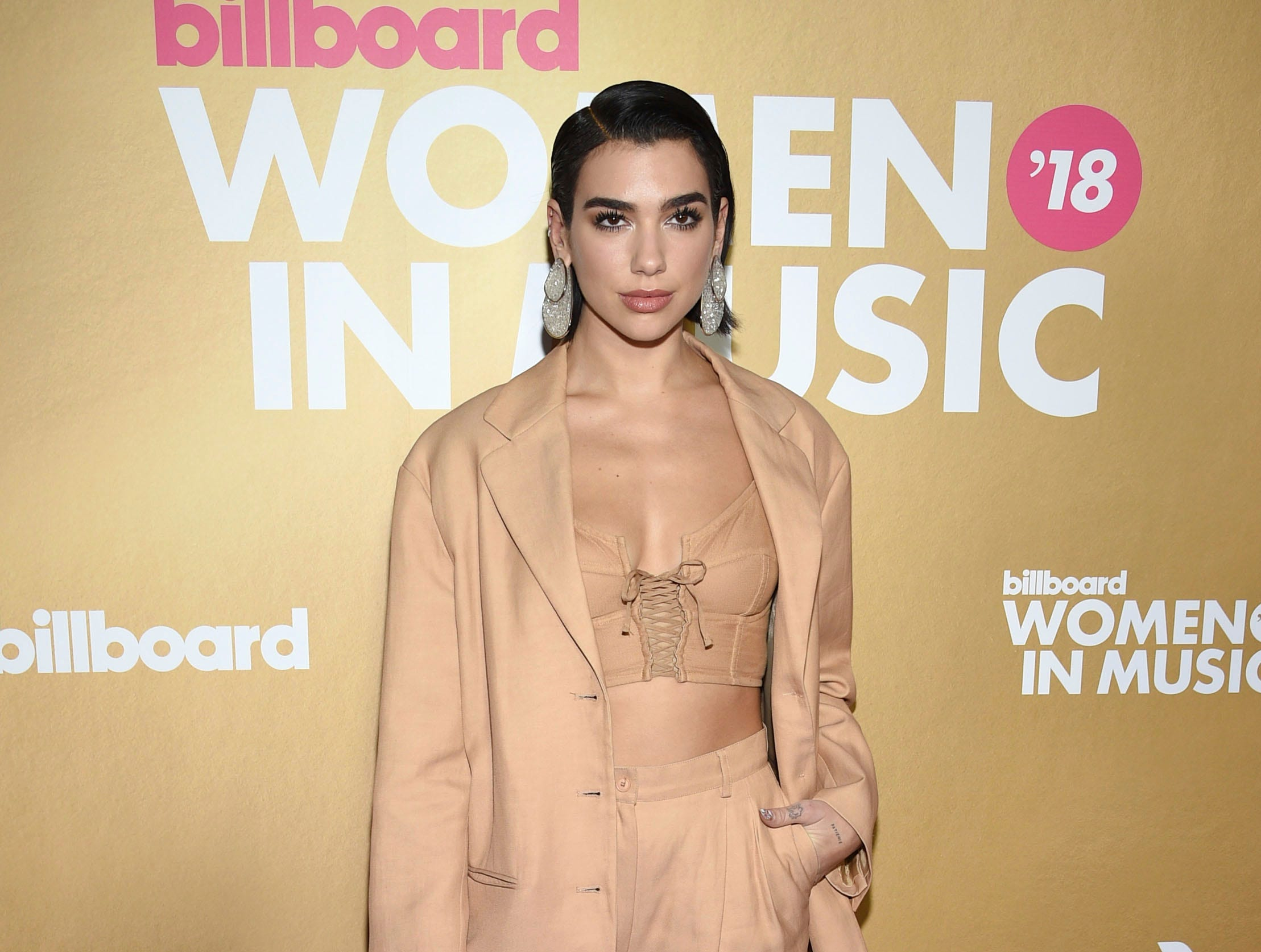 Dua Lipa attends the 13th annual Billboard Women in Music event at Pier 36 on Thursday, Dec. 6, 2018, in New York. (Photo by Evan Agostini/Invision/AP) ORG XMIT: CABR104