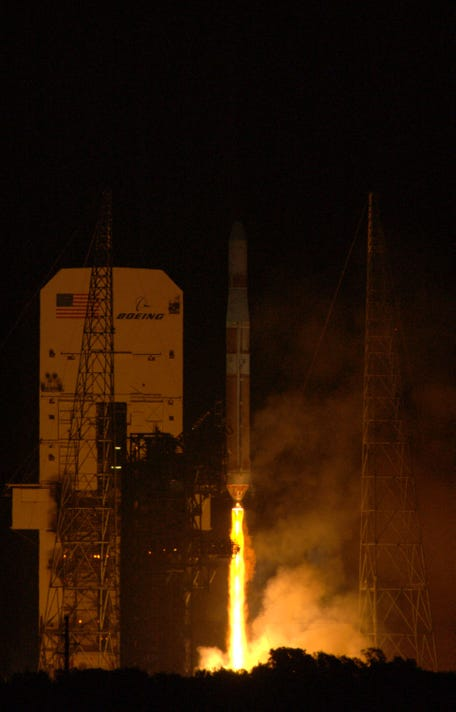 Delta Iv Rocket Launches Into Space
