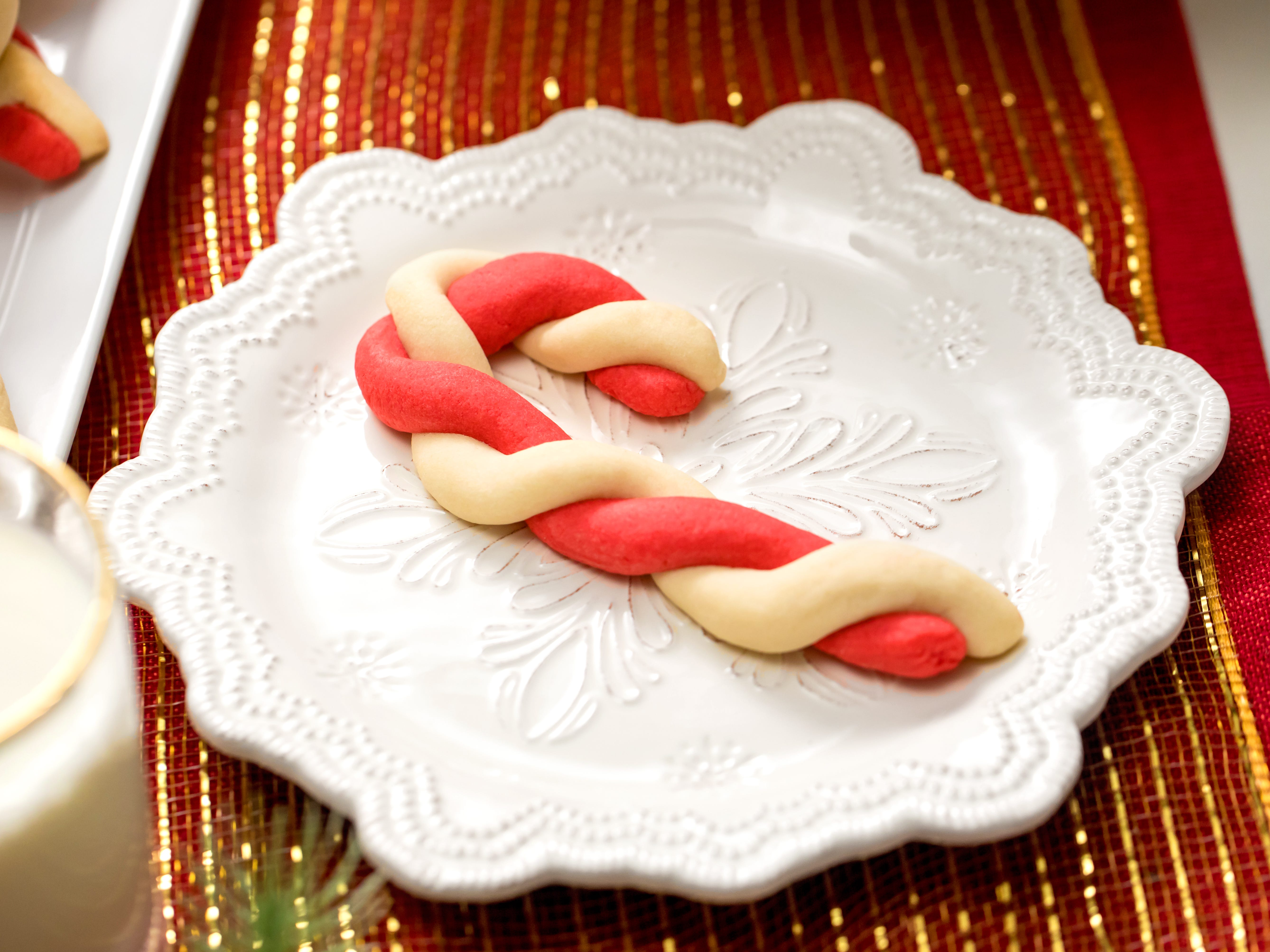 Classic candy cane cookies