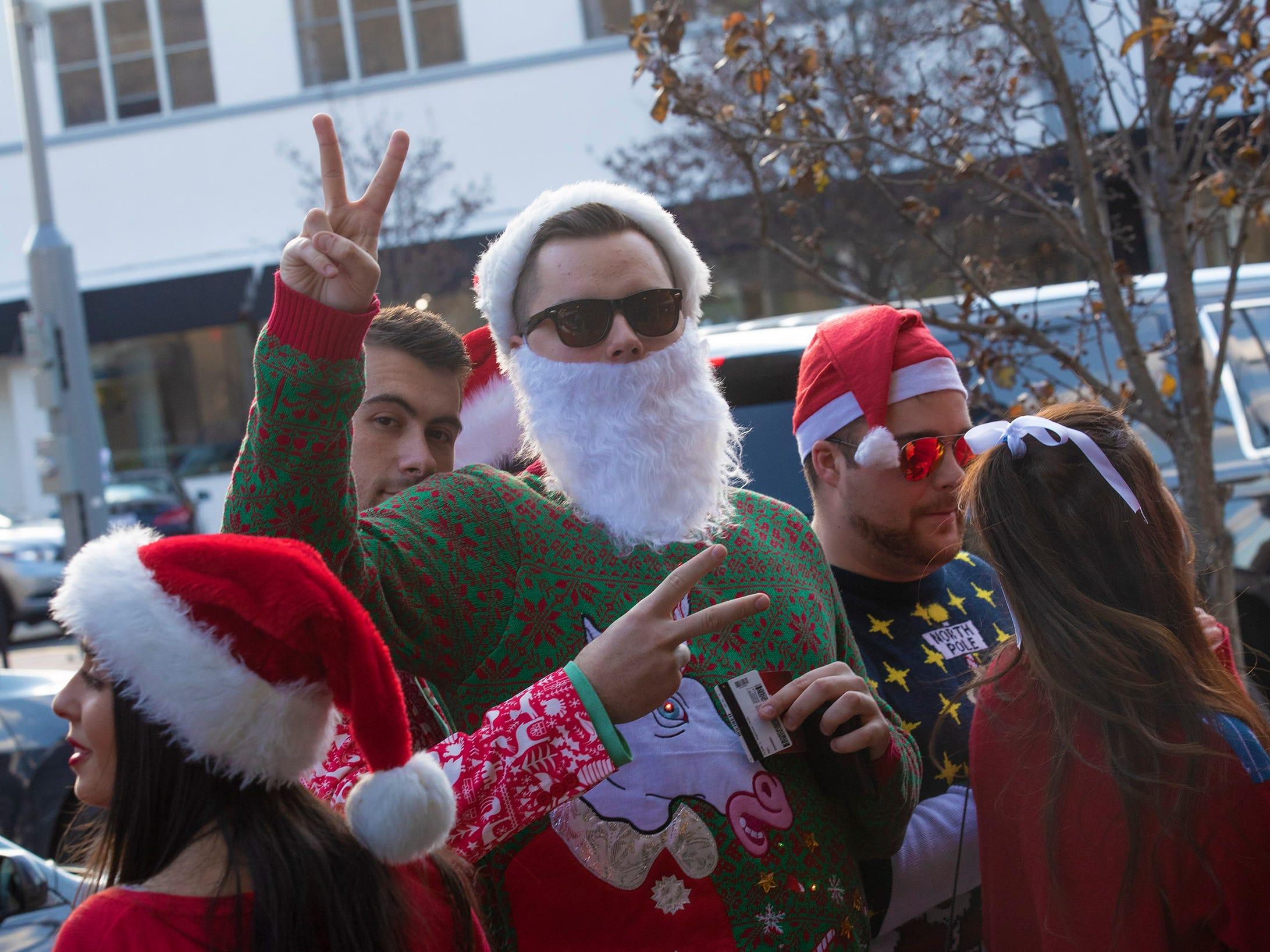 SantaCon Bar Crawl through Asbury Park on December 8, 2018.