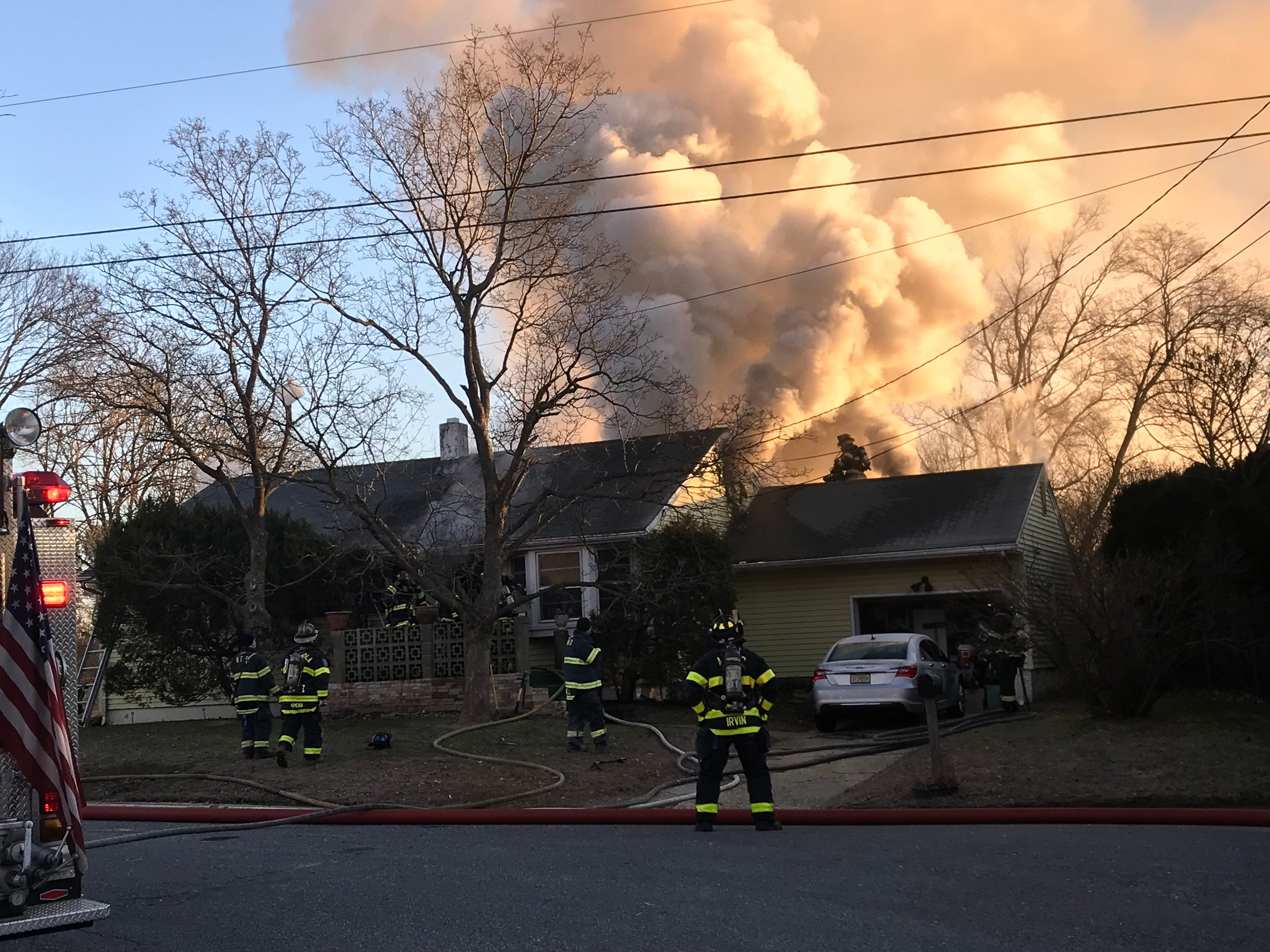 Some 20 firefighters from Neptune and Asbury Park battled a blaze at 718 Gail Drive on Saturday morning.