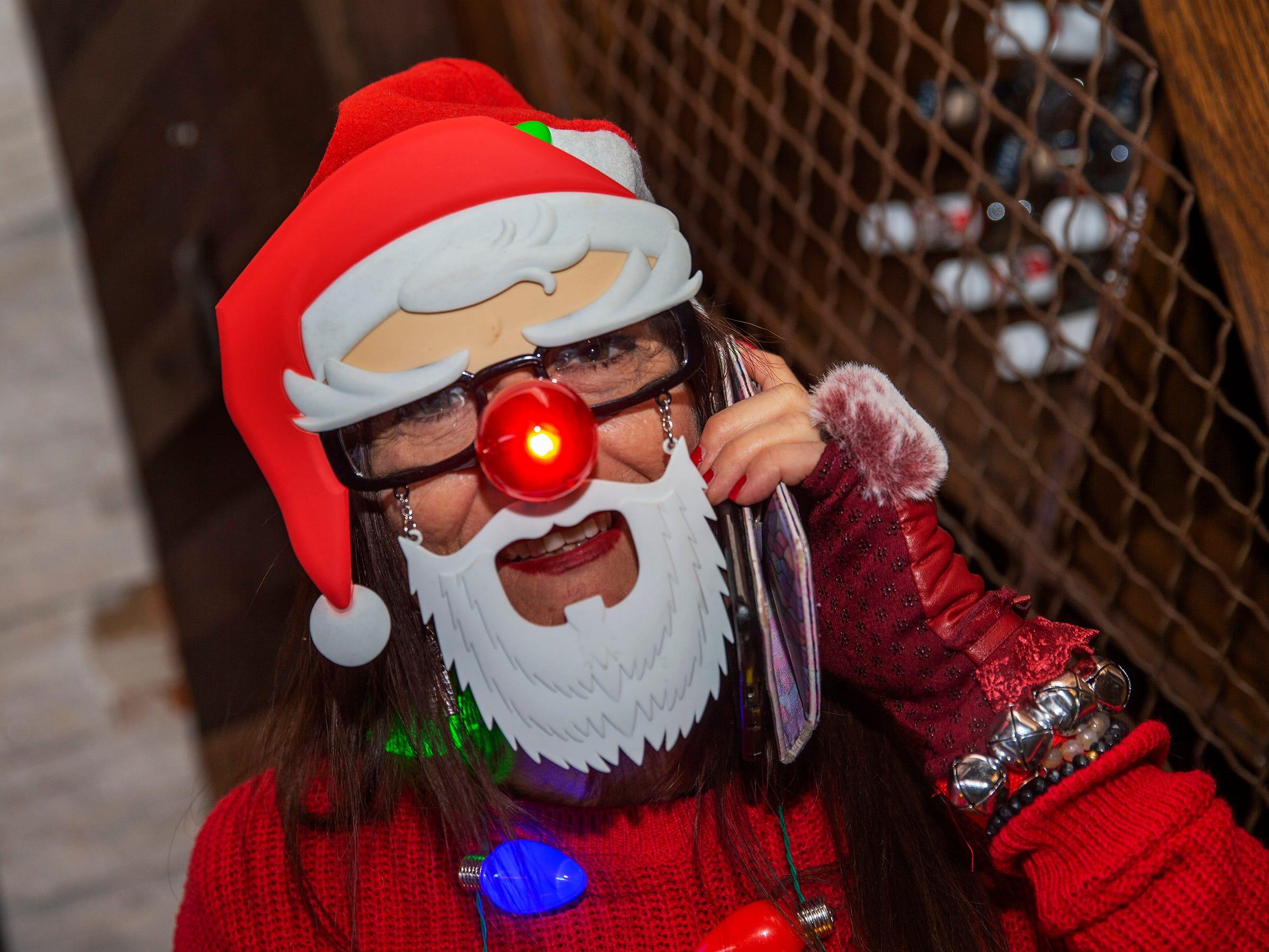 Lucille Berardi of Linden dressed up for SantaCon Bar Crawl through Asbury Park on December 8, 2018.