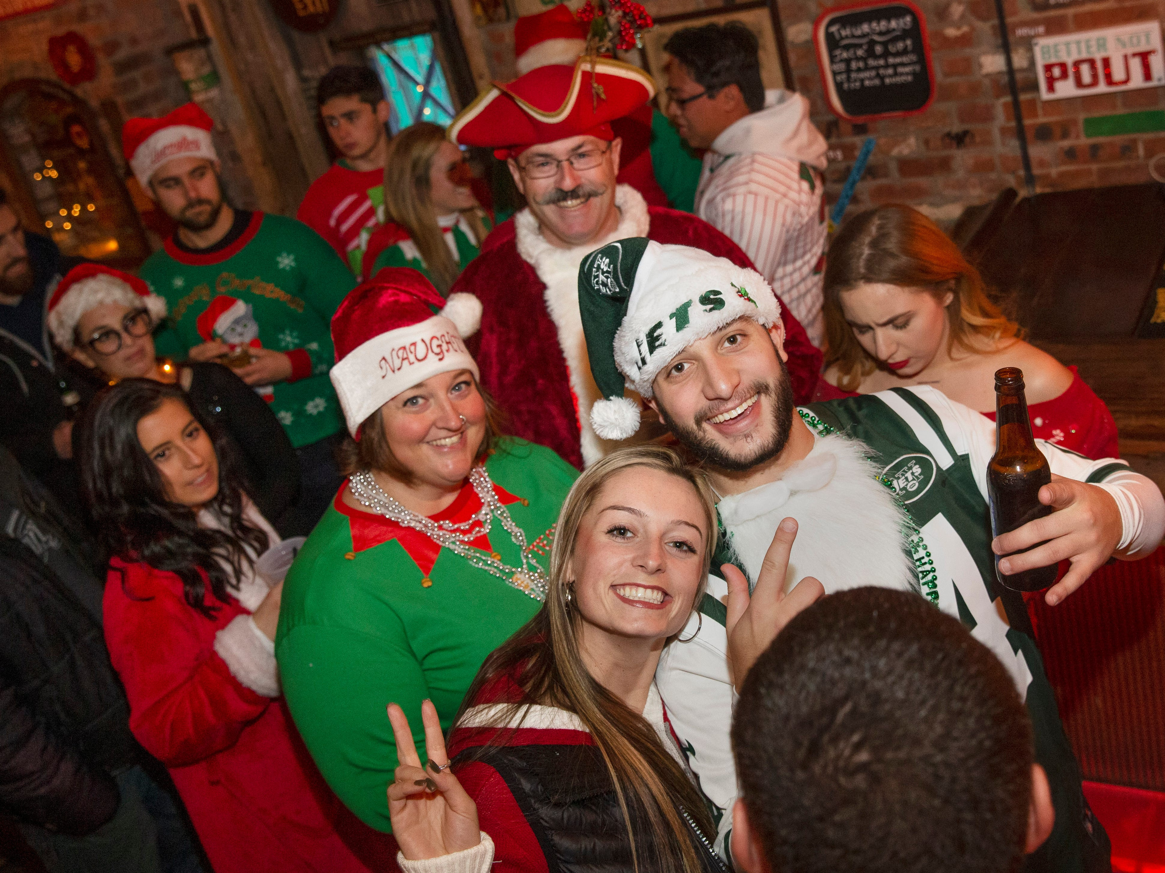 Johnny Mac House of Spirits during  SantaCon Bar Crawl through Asbury Park on December 8, 2018.