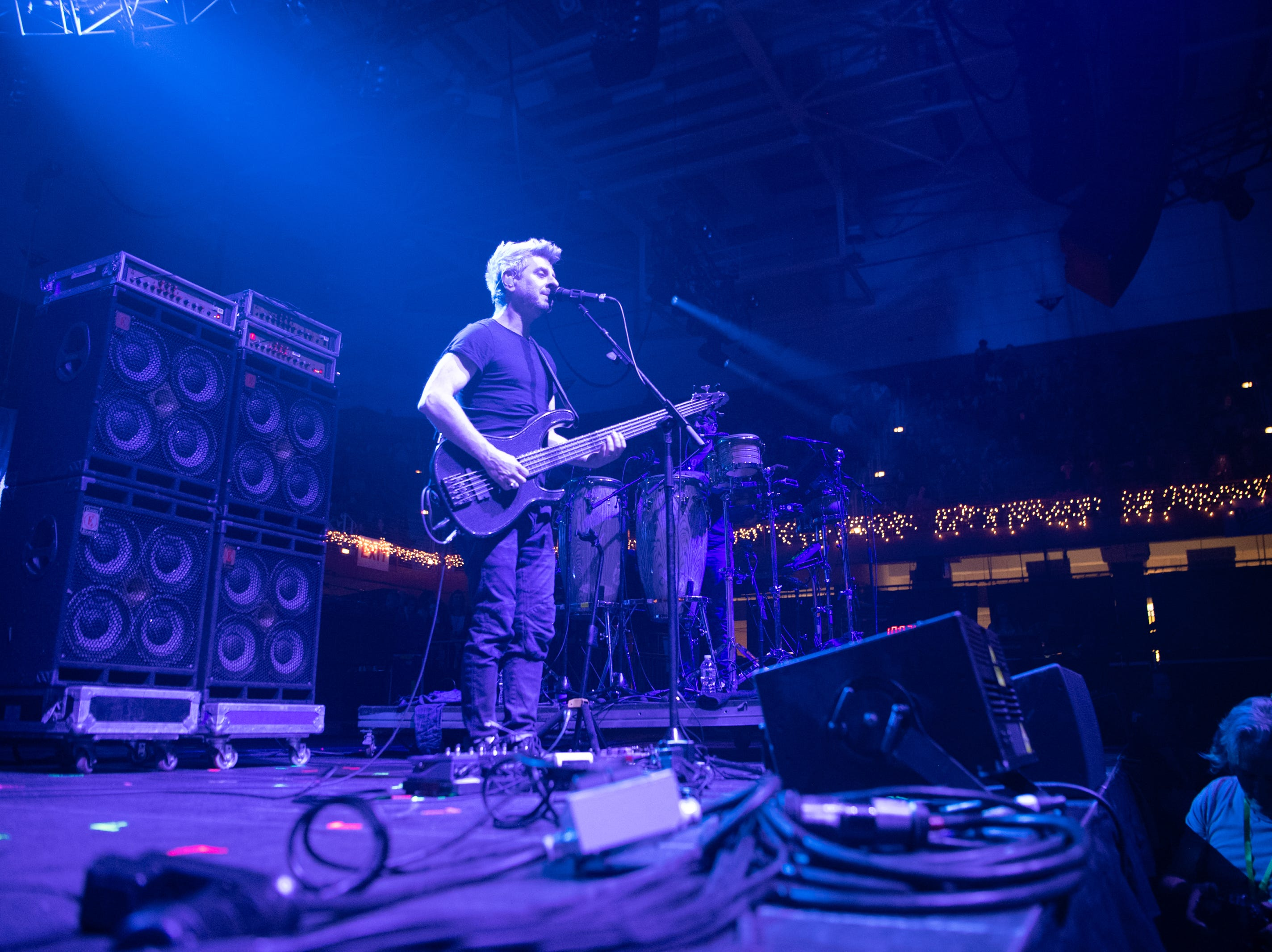 Mike Gordon and his band performs on night one of the 30th annual Christmas Jam at the U.S Cellular Center in Asheville, Dec. 7, 2018.