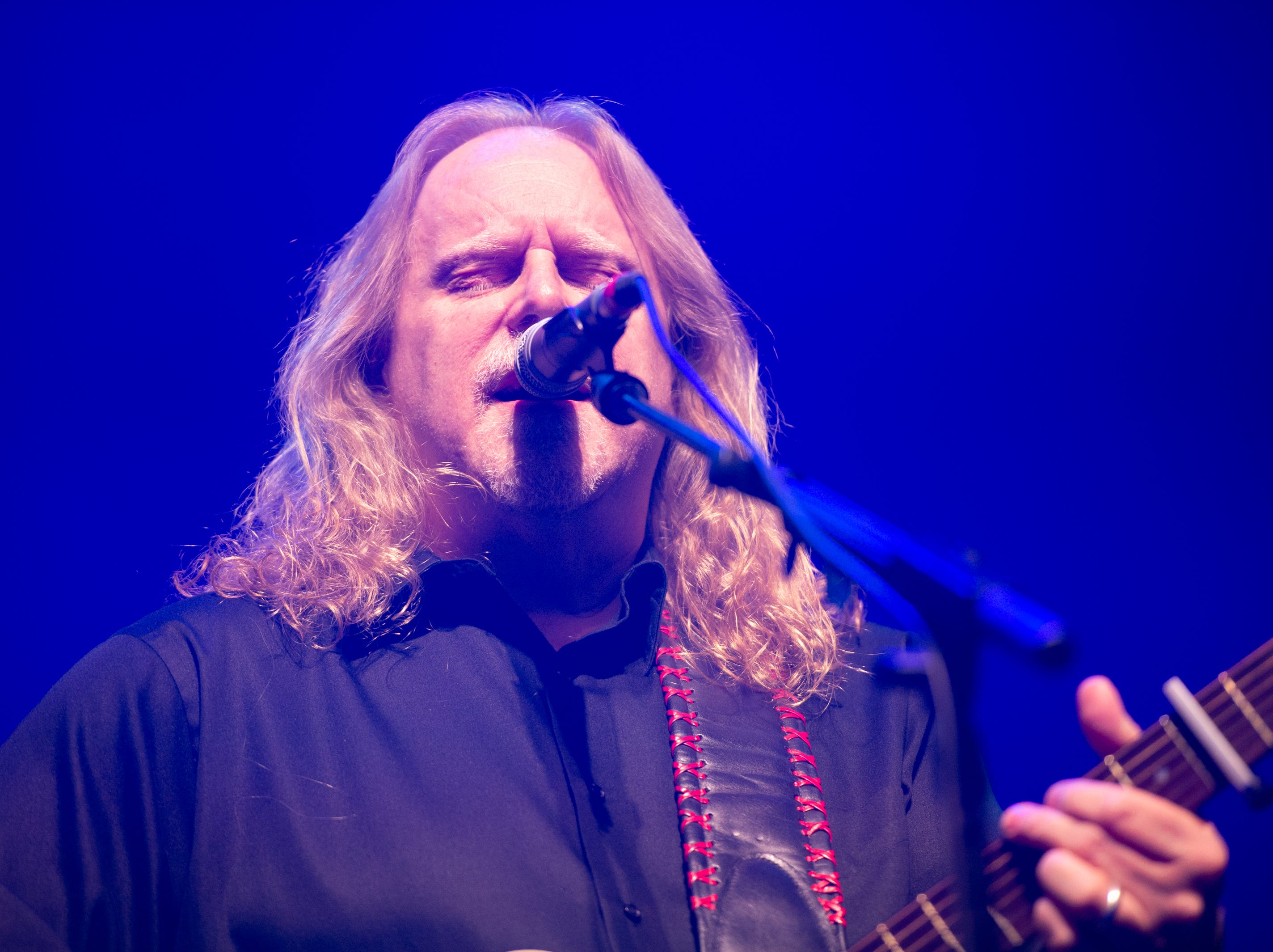 Warren Haynes performs on the first night of the 30th annual Christmas Jam at the U.S Cellular Center in Asheville, Dec. 7, 2018.