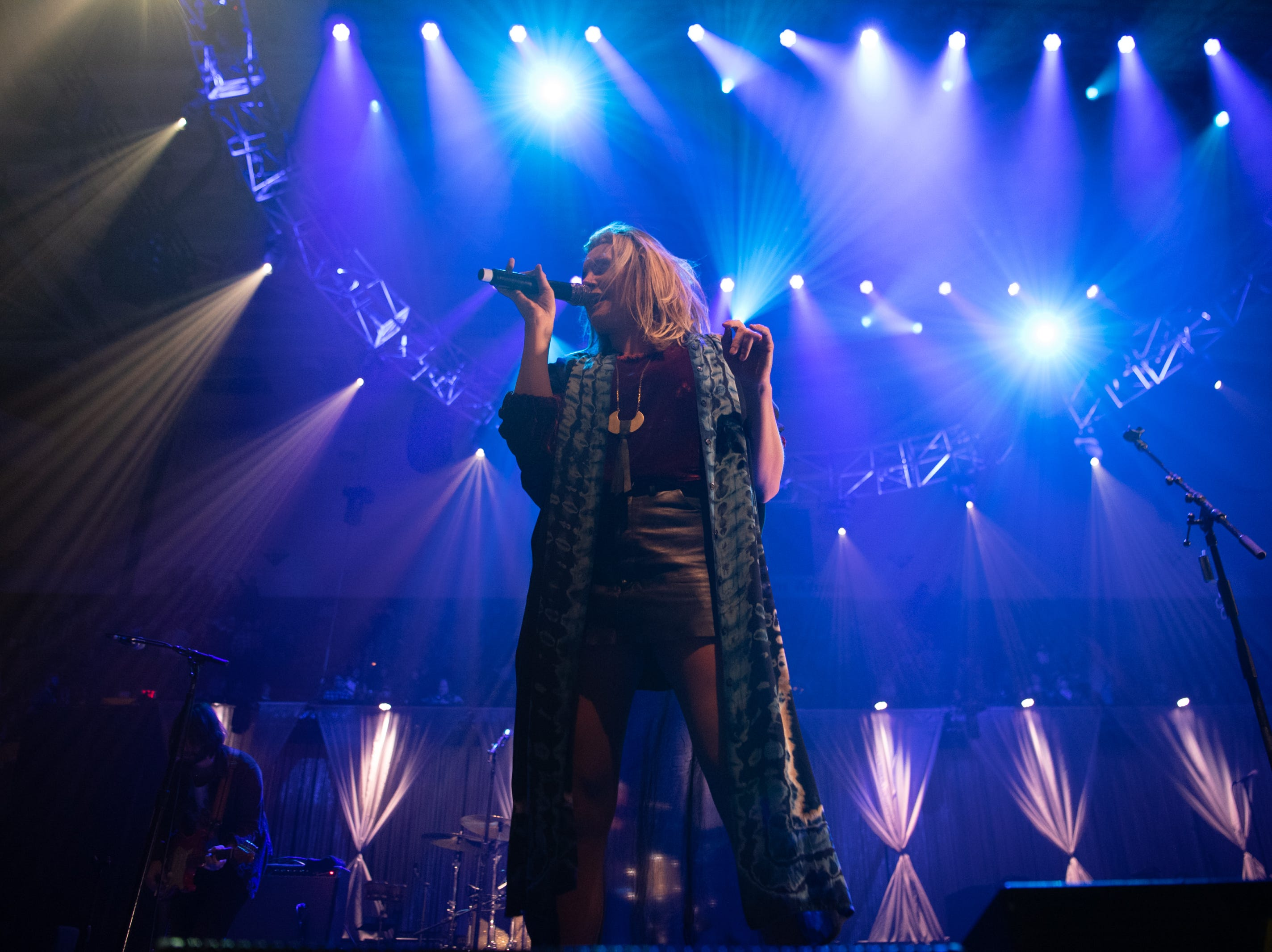 Grace Potter and her band performs on night one of the 30th annual Christmas Jam at the U.S Cellular Center in Asheville, Dec. 7, 2018.