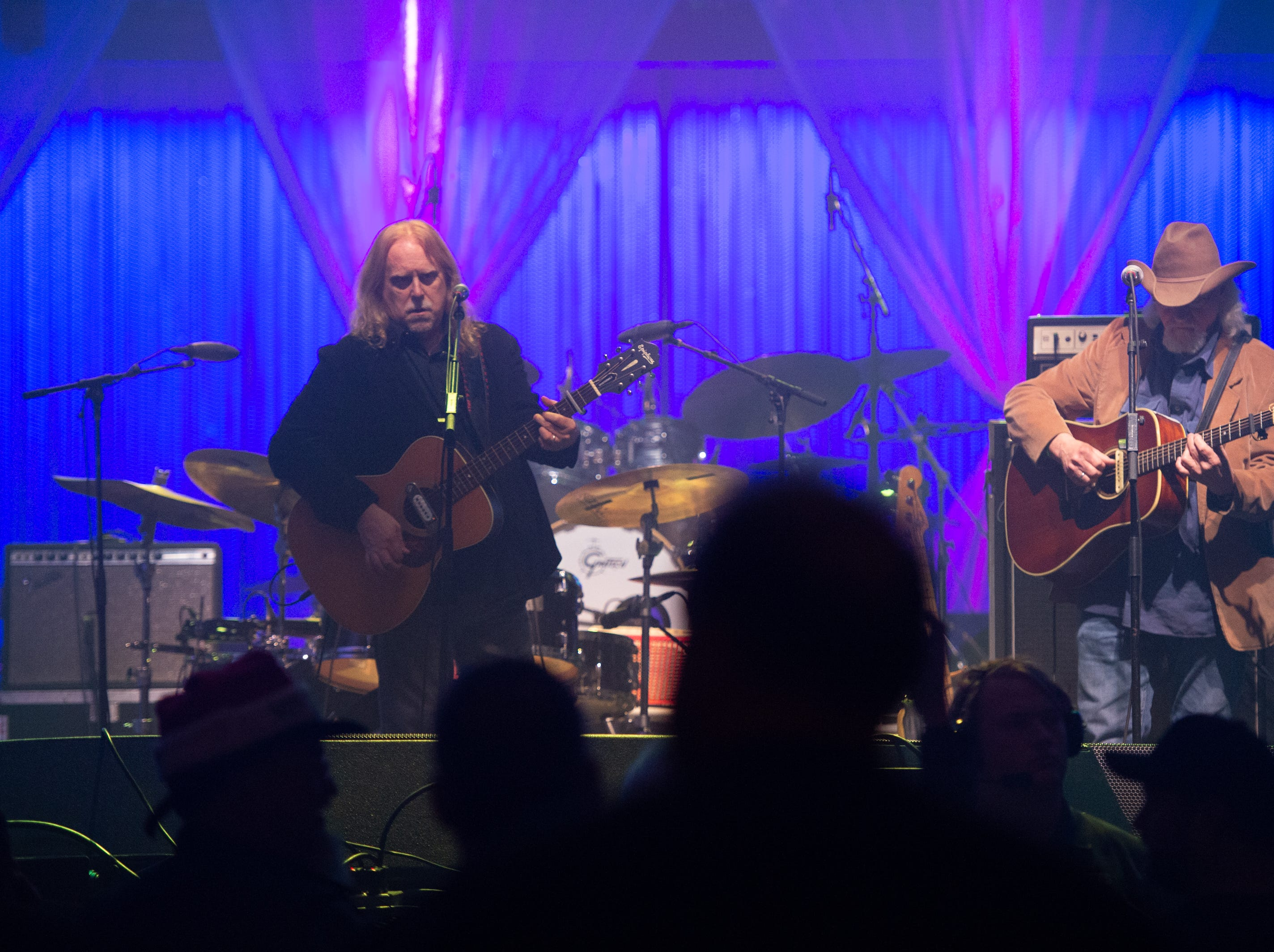 Warren Haynes performs an acoustic set on the first night of the 30th annual Christmas Jam at the U.S Cellular Center in Asheville, Dec. 7, 2018.