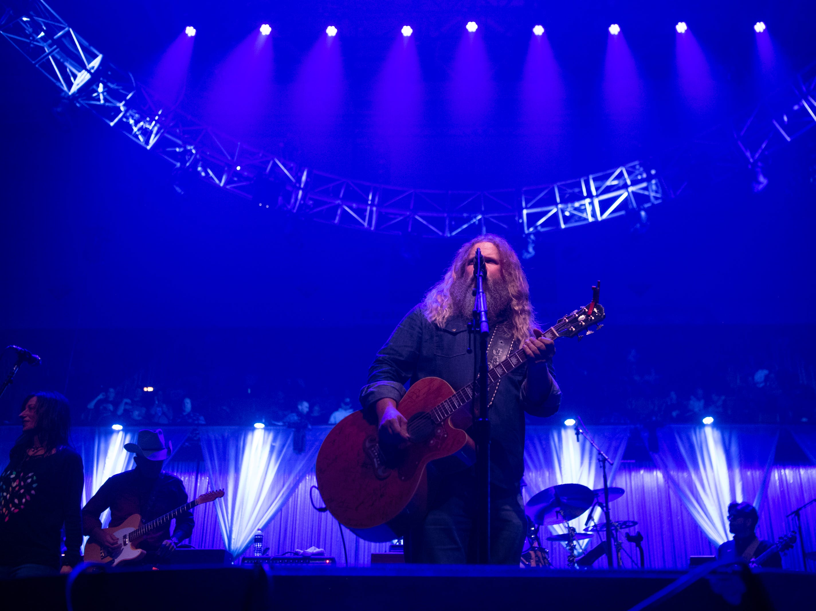 Jamey Johnson performs on the first night of the 30th annual Christmas Jam at the U.S Cellular Center in Asheville, Dec. 7, 2018.