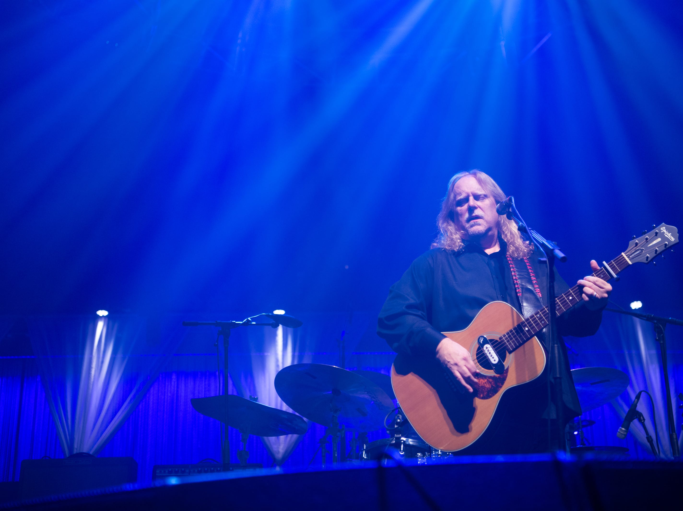 Warren Haynes performs on night one of the 30th annual Christmas Jam at the U.S Cellular Center in Asheville, Dec. 7, 2018.