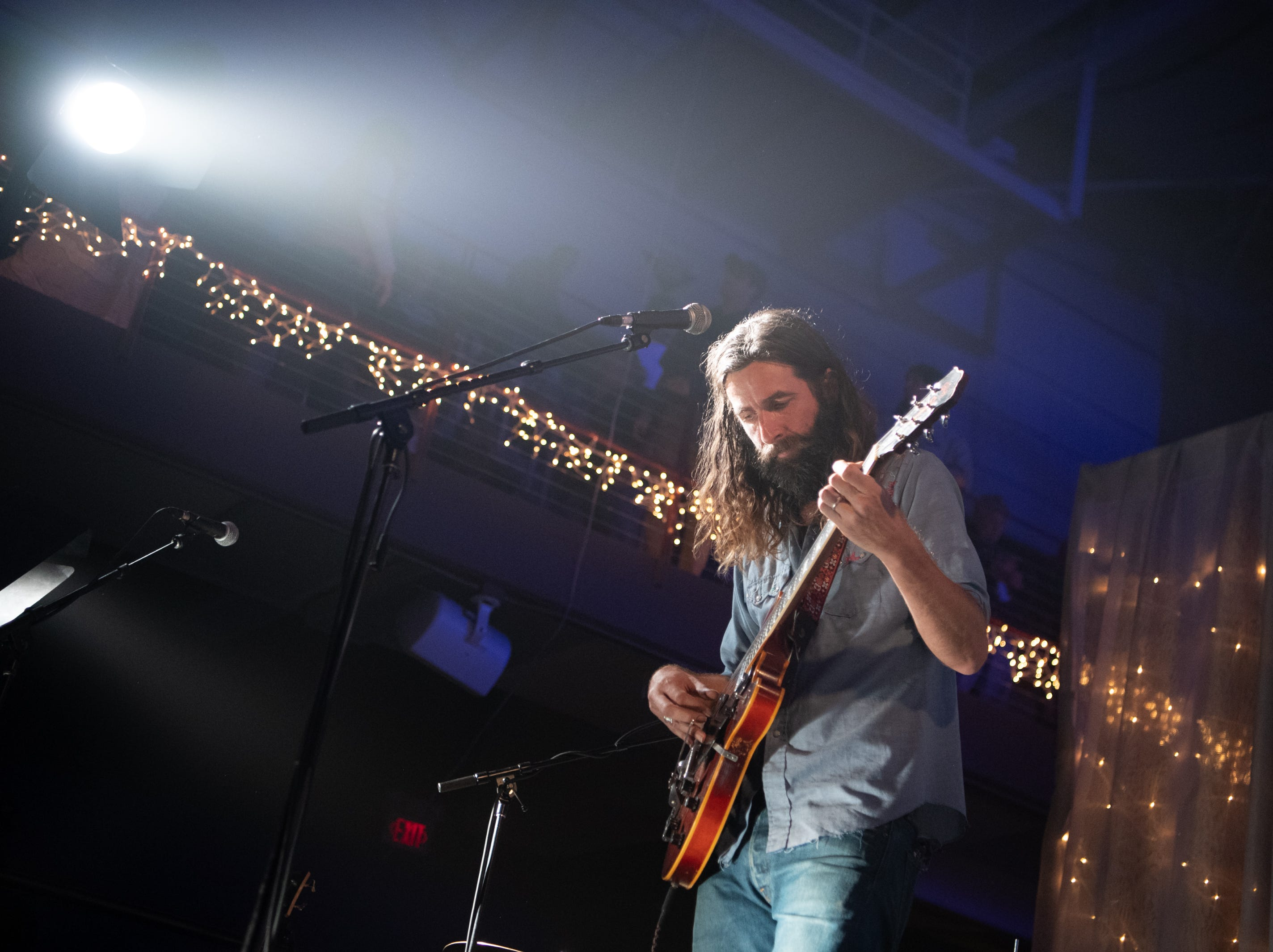 Tyler Ramsey, a former member of Band of Horses and his band performs on night one of the 30th annual Christmas Jam at the U.S Cellular Center in Asheville, Dec. 7, 2018.