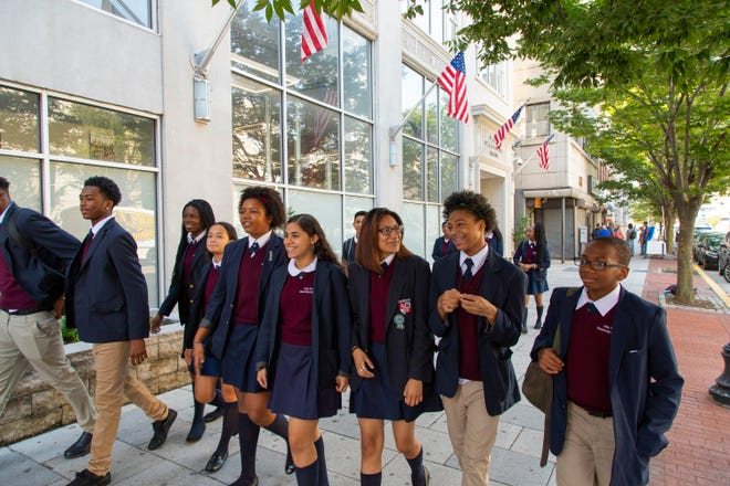 Students at LEAP Academy University Charter School in Camden