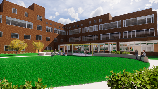 After a $2 million anonymous donation, Seton High School will begin construction on a student center and outdoor classroom space.