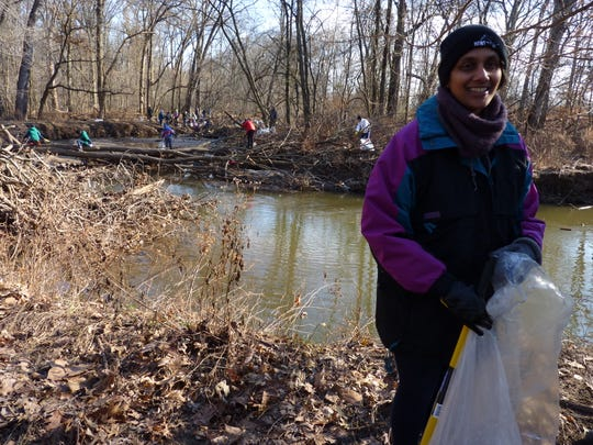 Nandini Checko, project director on reducing plastic pollution for theAssociation of New Jersey Environmental Commissions, in Green Brook  on Dec. 8, 2018.