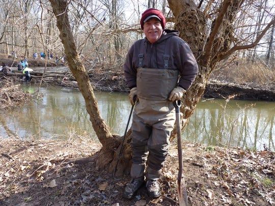Longtime volunteer Andrew Still, of Middlesex, in Green Brook on Dec. 8, 2018.