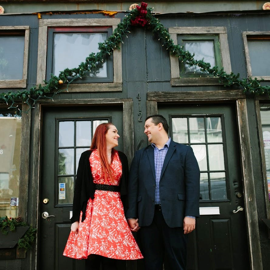 Iowa Columnist Courtney Crowder with her fiance,...