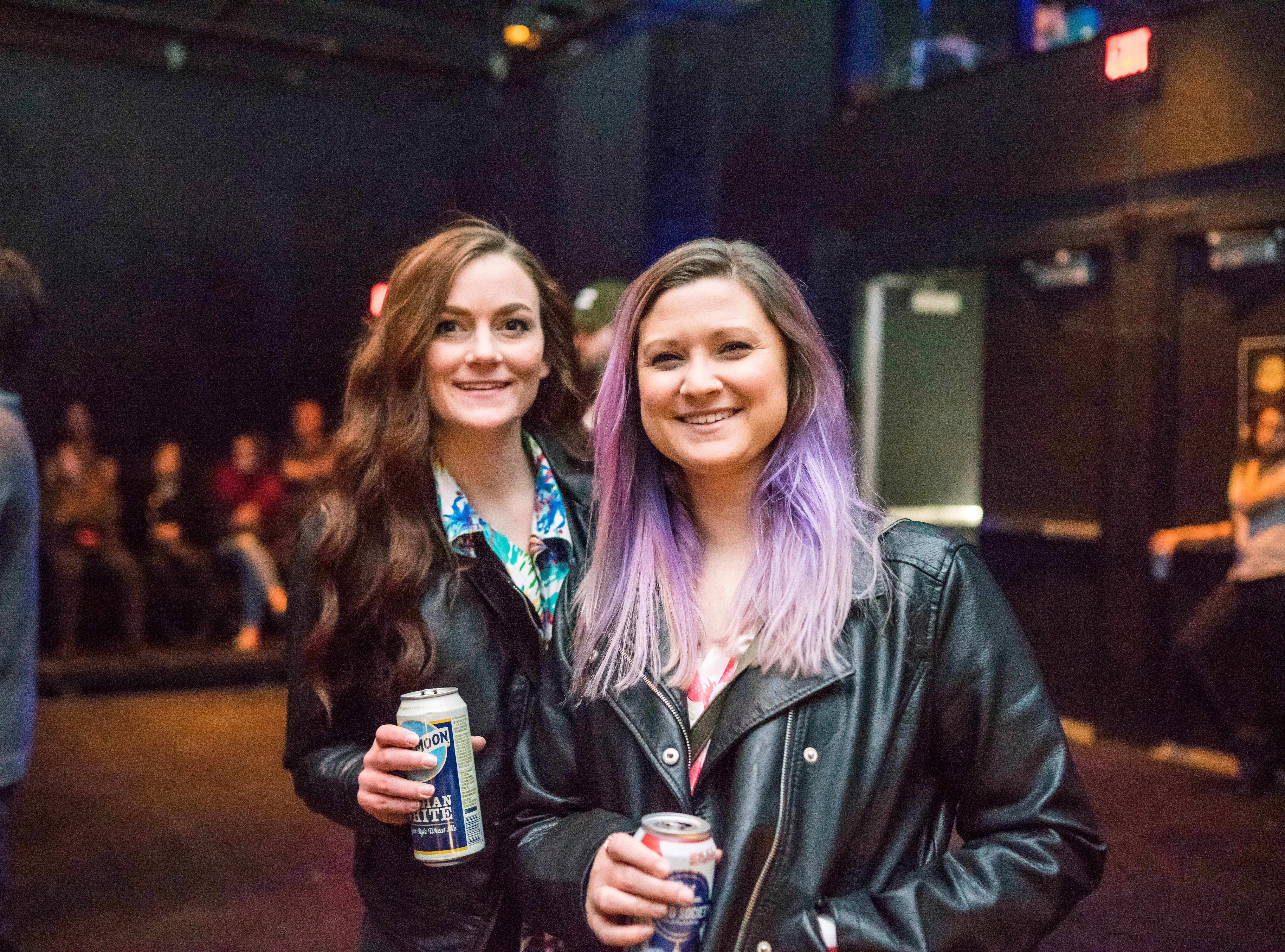 Mallory Shafer, 27, and Ceslie Ozbun, 28, both of Des Moines, having a fun time, Friday, Dec. 7, at Heatwave, hosted by the Des Moines Social Club.