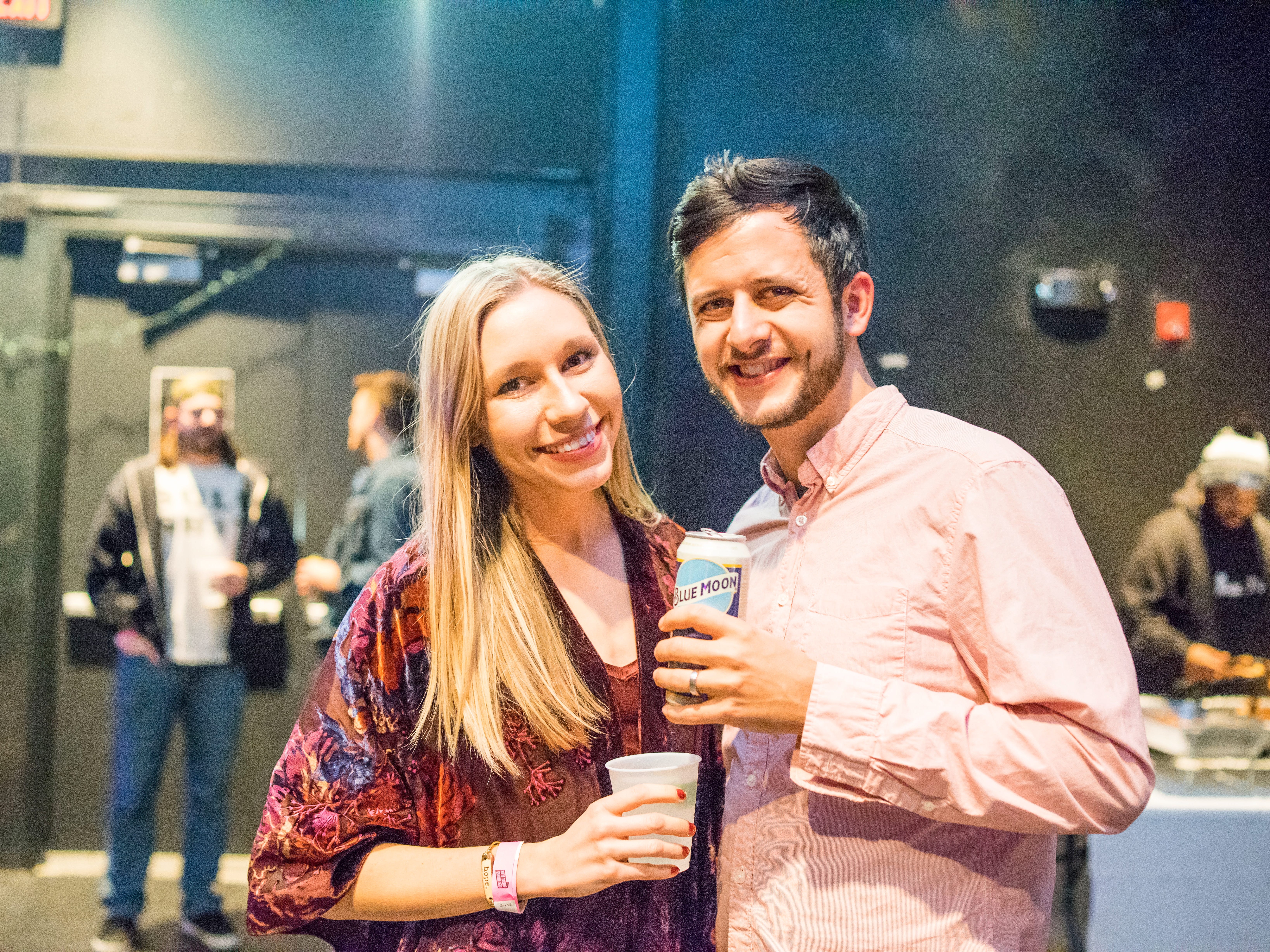 Luke Denlinger, 27, and Michaela Delinger, 26, both of Des Moines, having a fun time, Friday, Dec. 7, at Heatwave, hosted by the Des Moines Social Club.