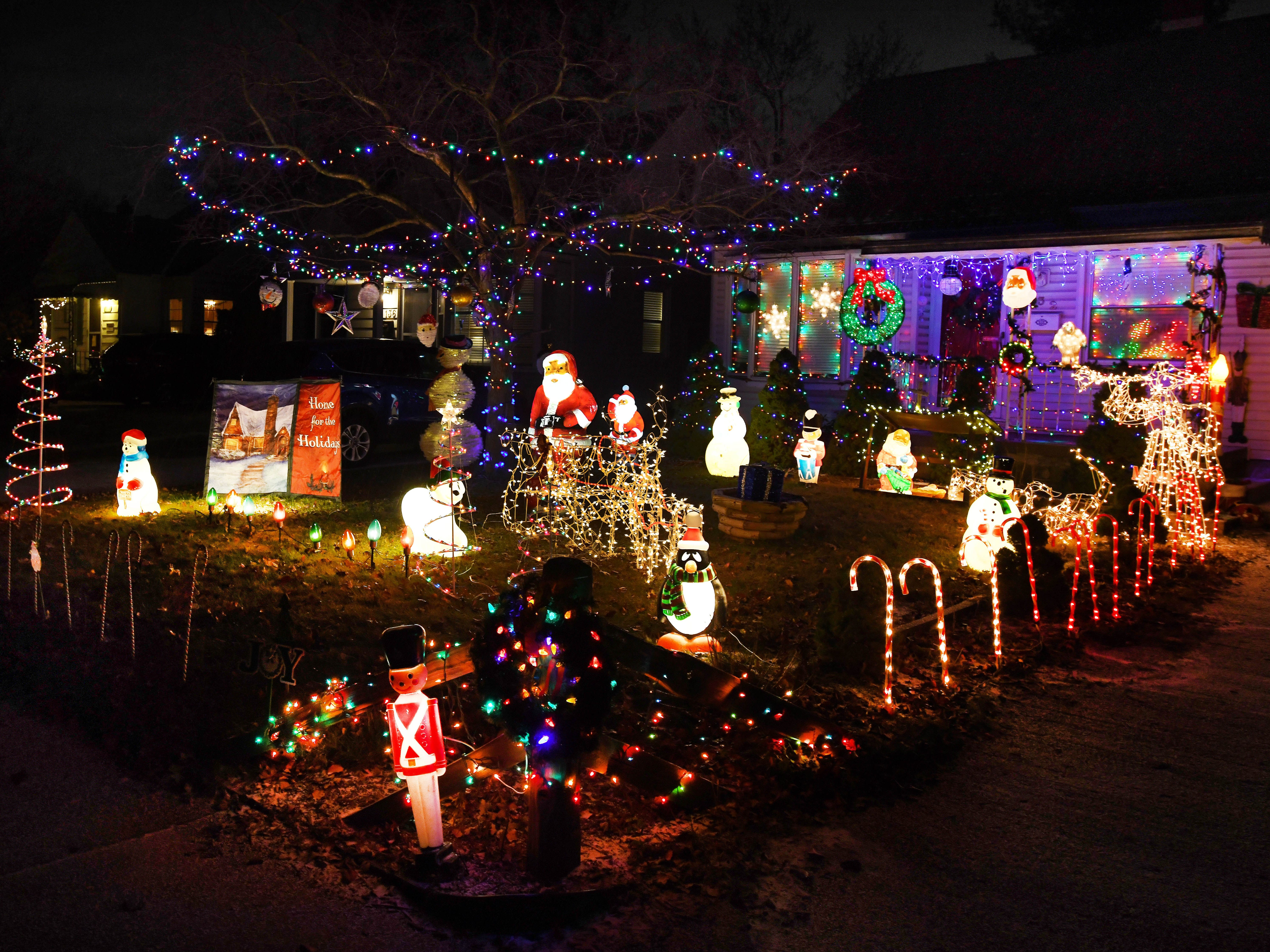Filling the front yard of a home on DeVillen street, Christmas spirit is in full force in Royal Oak.