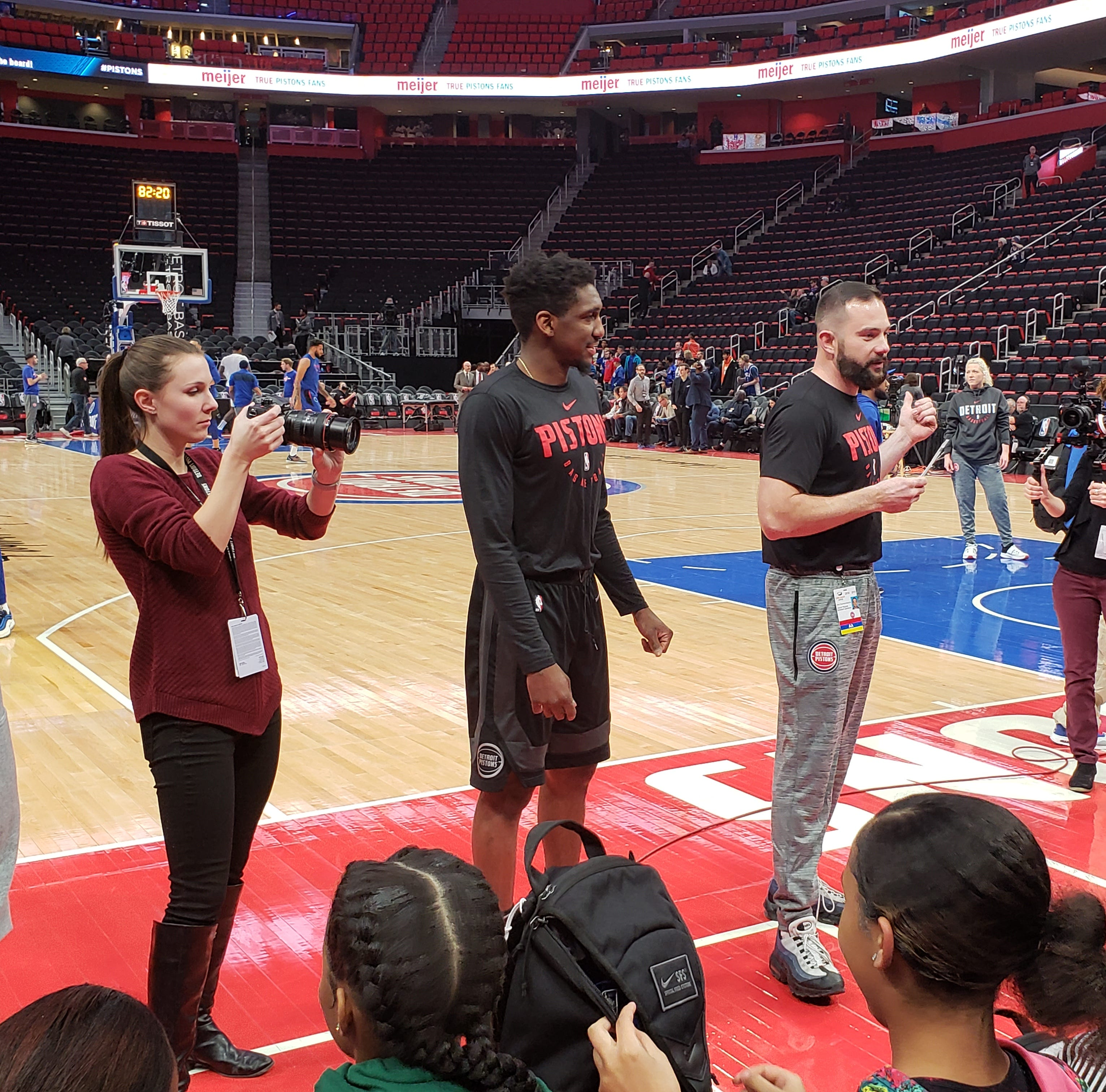 Pistons equipment manager steps up to help Denby High girls team